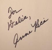 Anne Rice Autograph