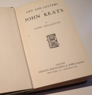 Keats Life and Letters